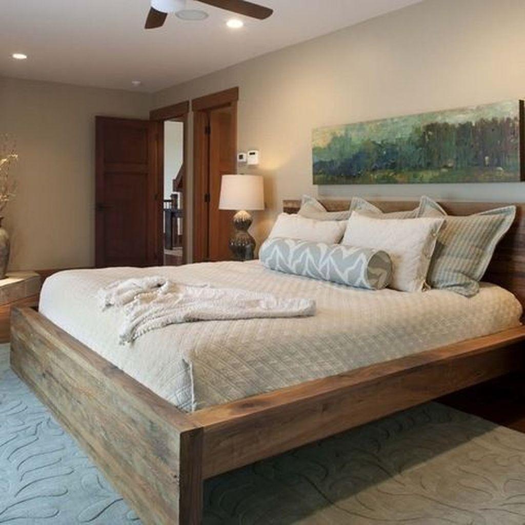 Lovely Diy Wooden Platform Bed Design Ideas 06