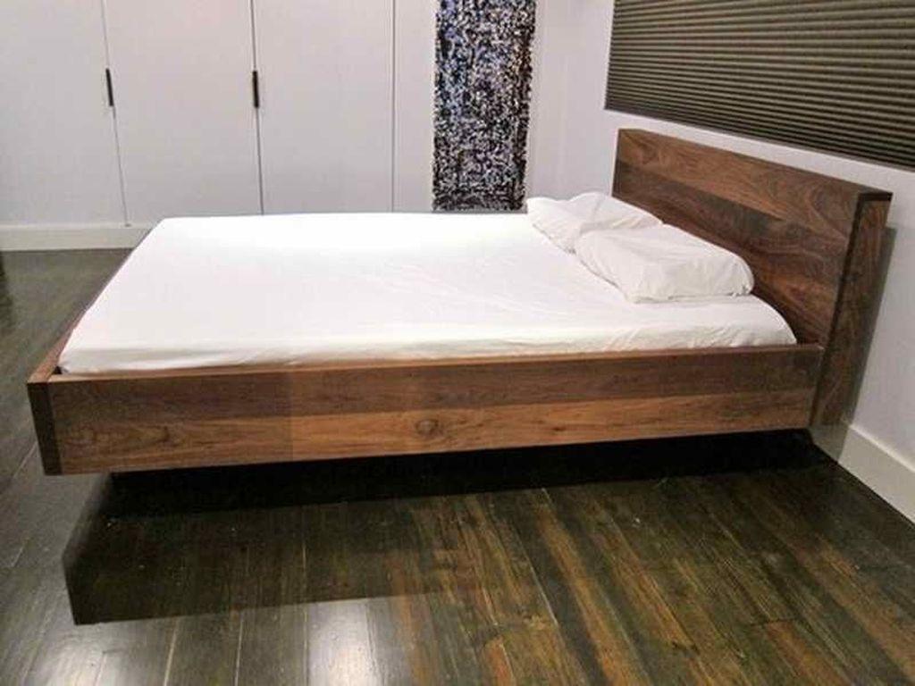 Lovely Diy Wooden Platform Bed Design Ideas 07