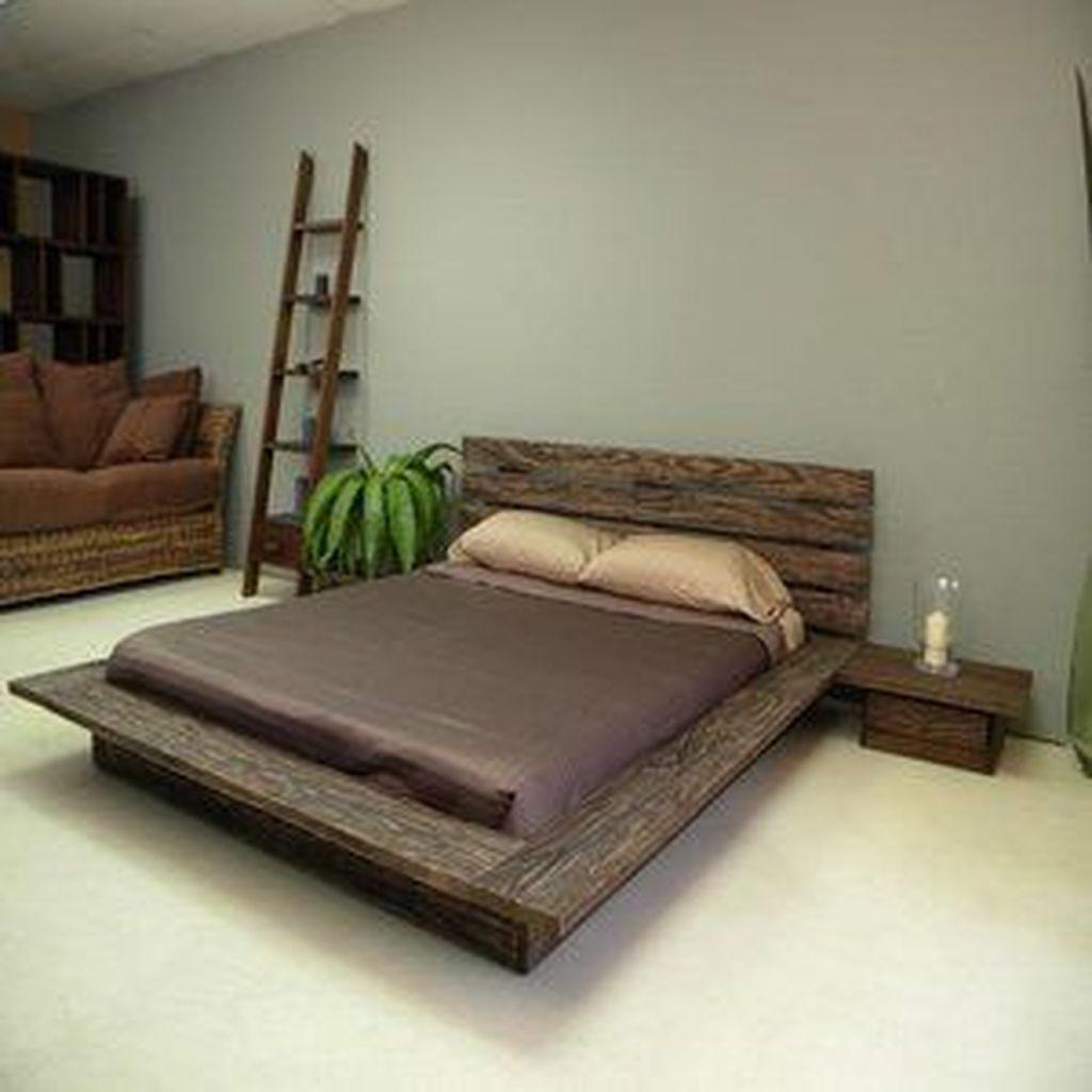 Lovely Diy Wooden Platform Bed Design Ideas 22