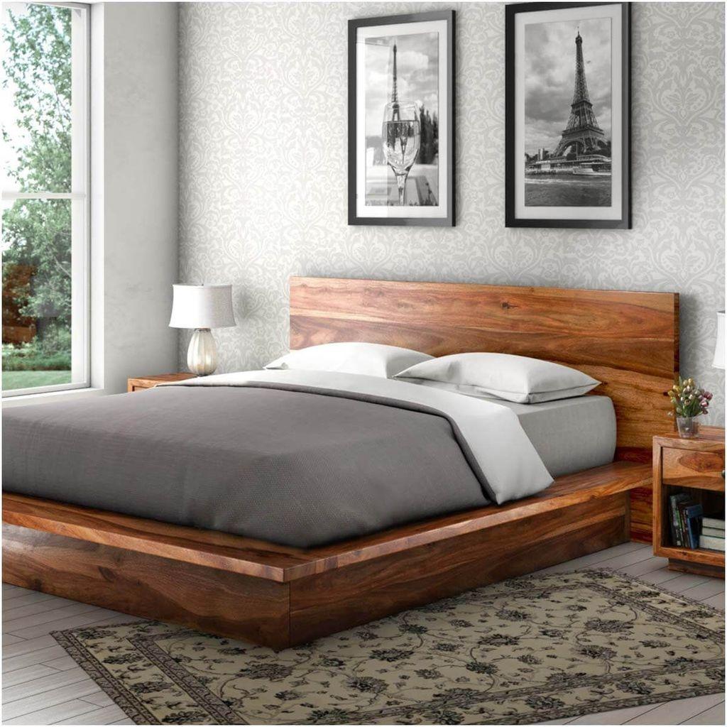 Lovely Diy Wooden Platform Bed Design Ideas 25