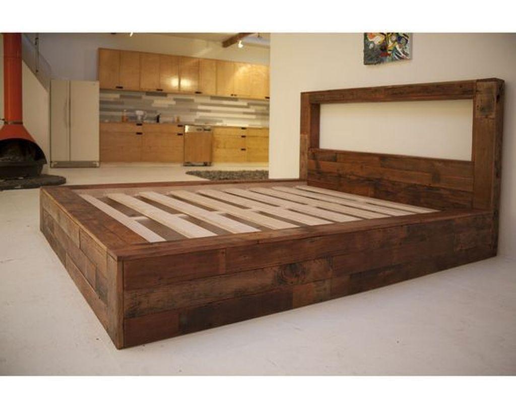 Lovely Diy Wooden Platform Bed Design Ideas 26