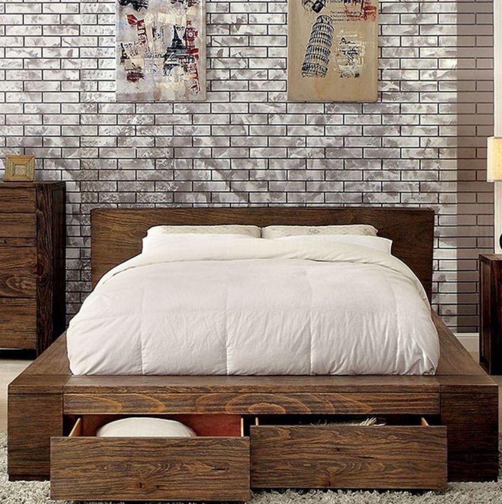 Lovely Diy Wooden Platform Bed Design Ideas 30