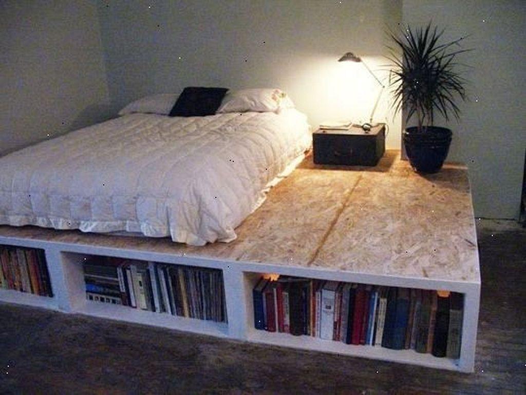 Lovely Diy Wooden Platform Bed Design Ideas 32