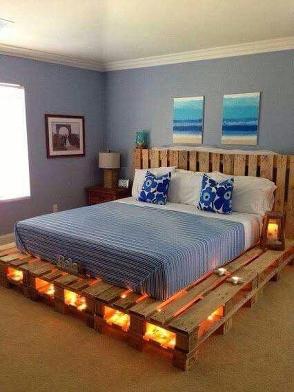 Lovely Diy Wooden Platform Bed Design Ideas 33