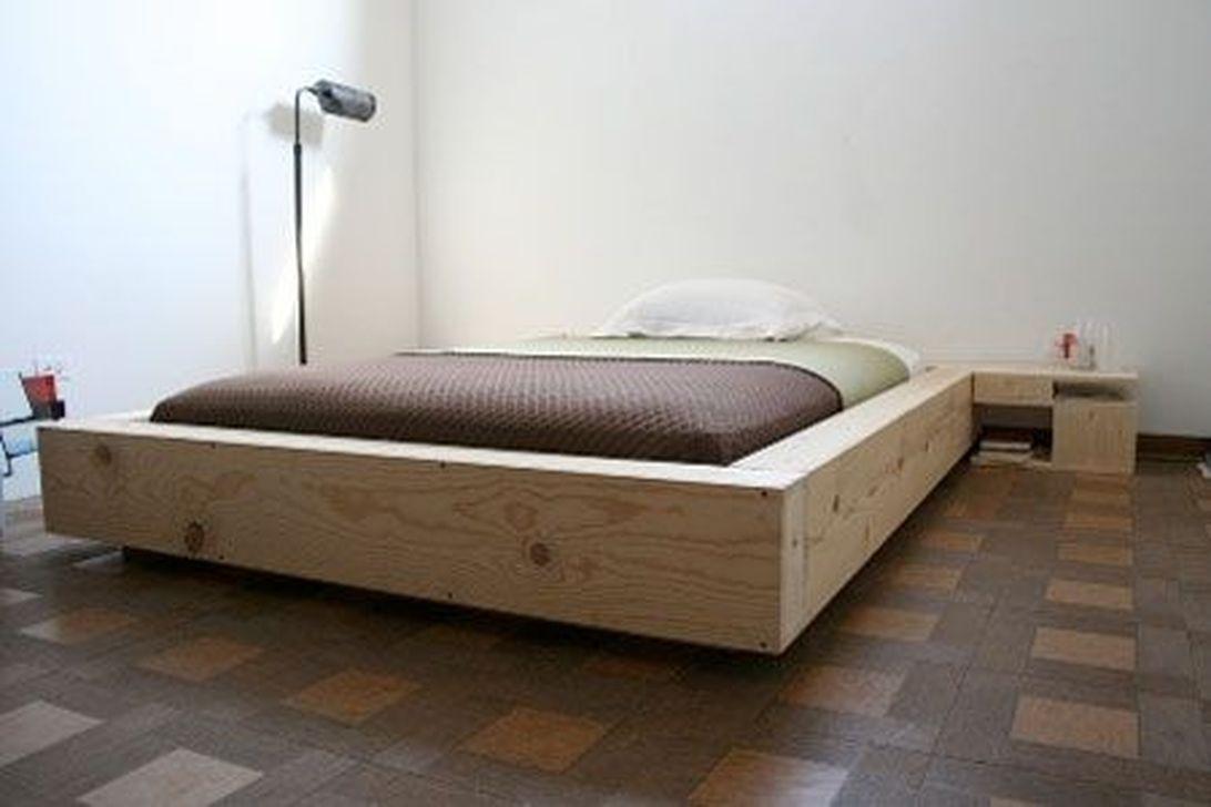 Lovely Diy Wooden Platform Bed Design Ideas 35