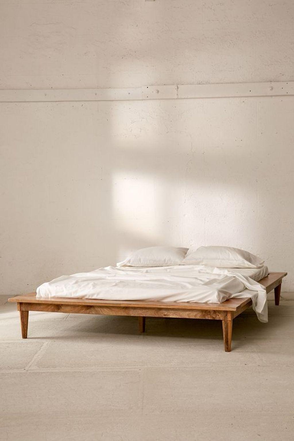 Lovely Diy Wooden Platform Bed Design Ideas 42