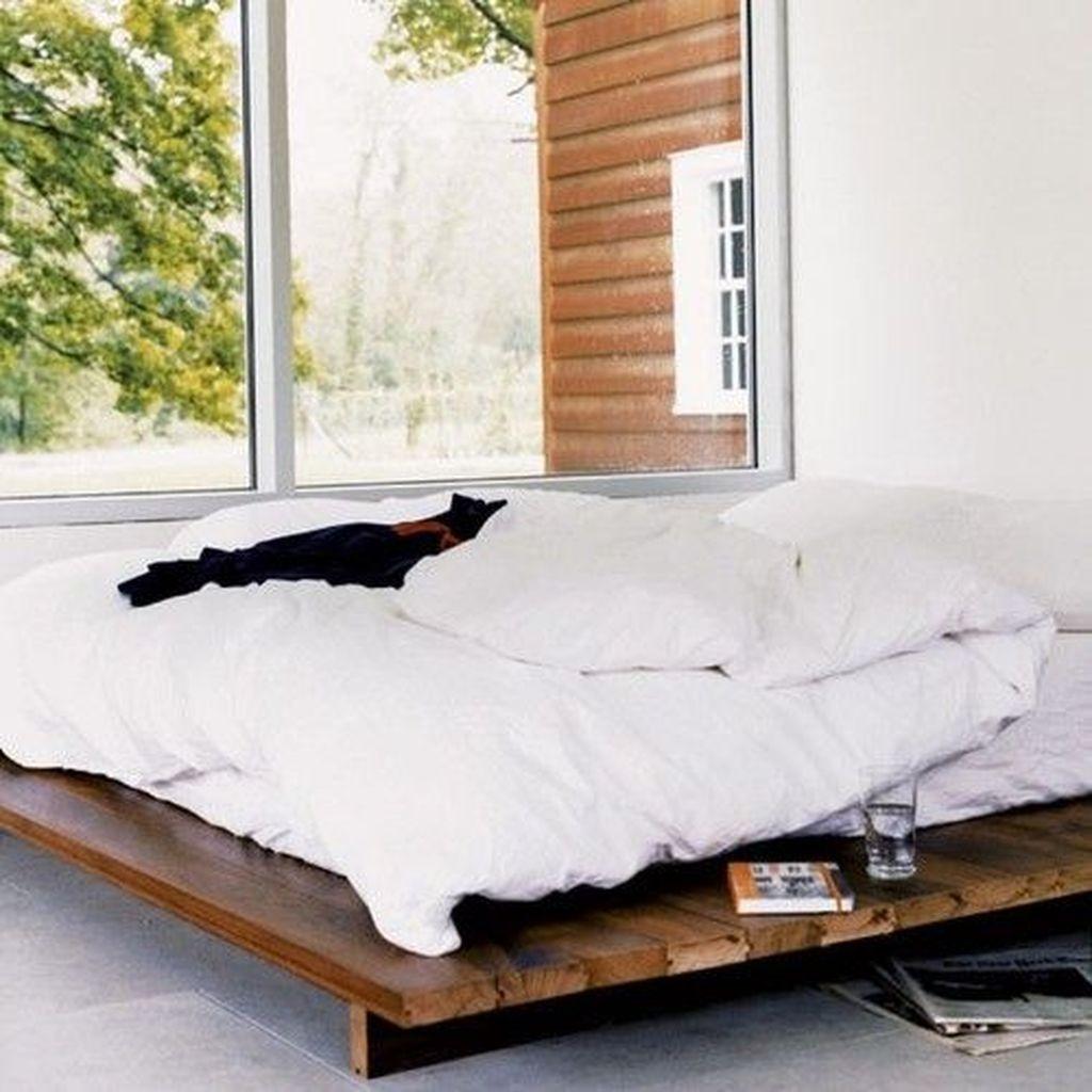 Lovely Diy Wooden Platform Bed Design Ideas 45
