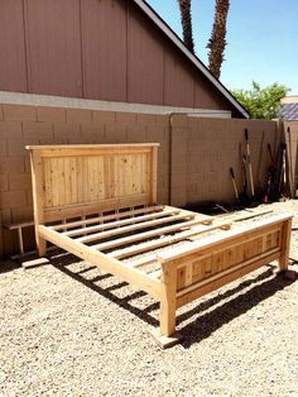 Lovely Diy Wooden Platform Bed Design Ideas 47