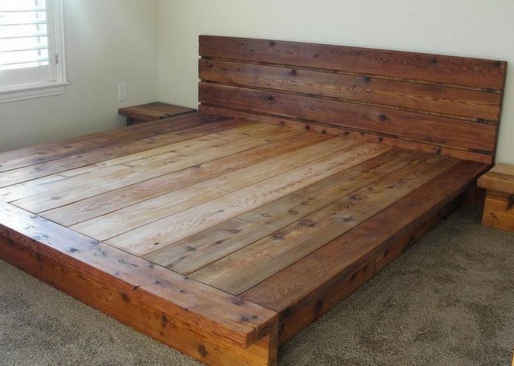 Lovely Diy Wooden Platform Bed Design Ideas 52