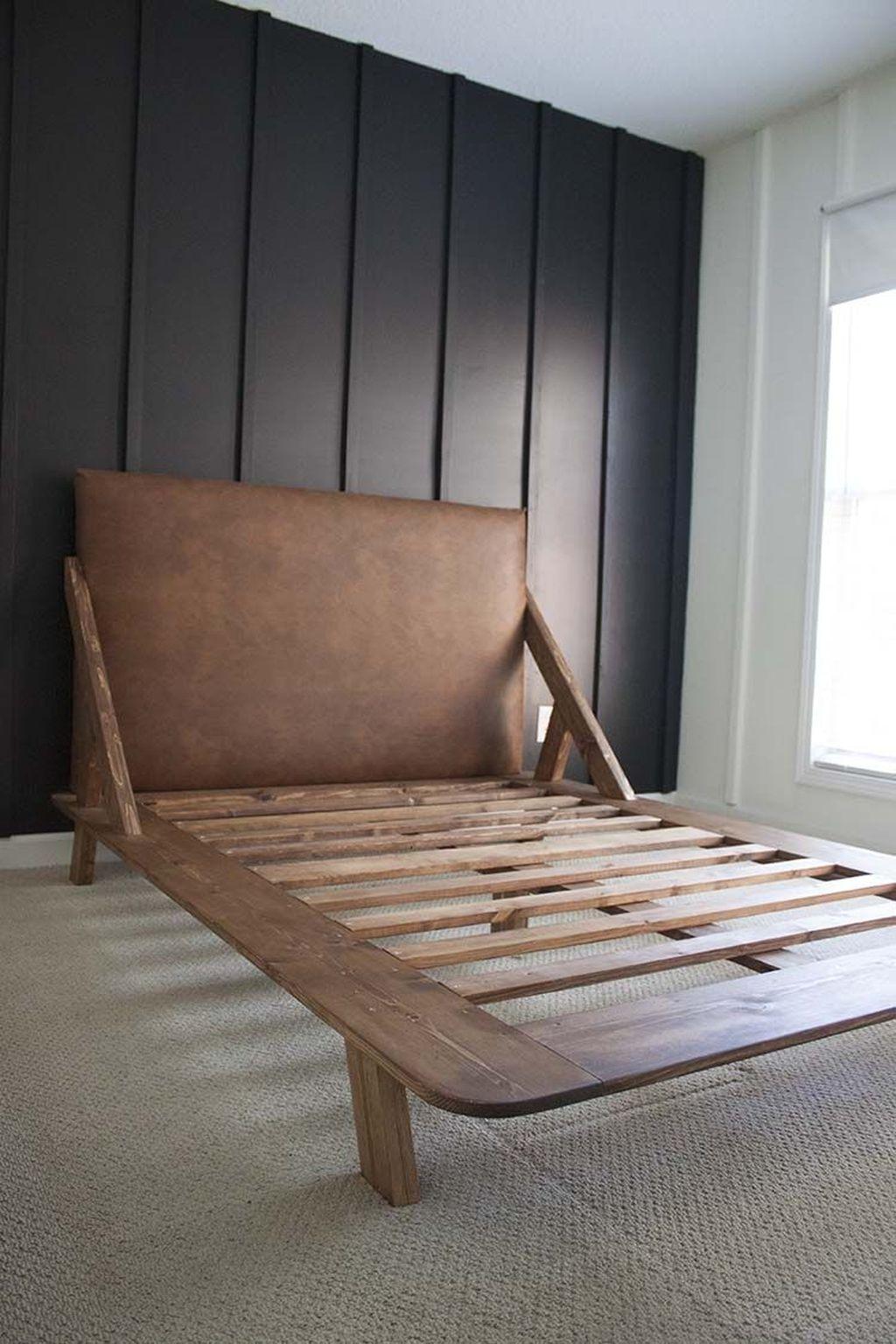 Lovely Diy Wooden Platform Bed Design Ideas 53