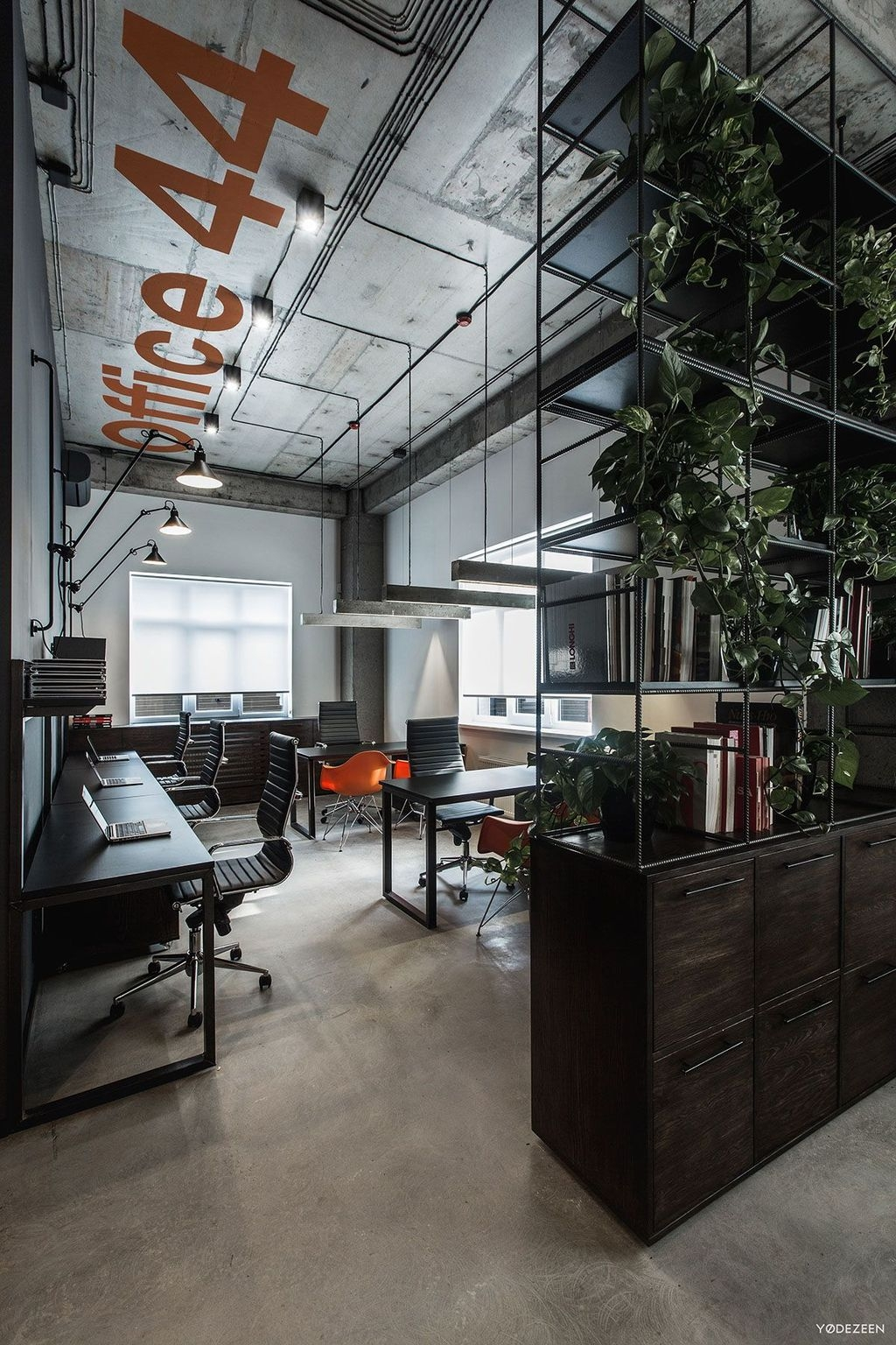 Magnificient Industrial Office Design Ideas 18