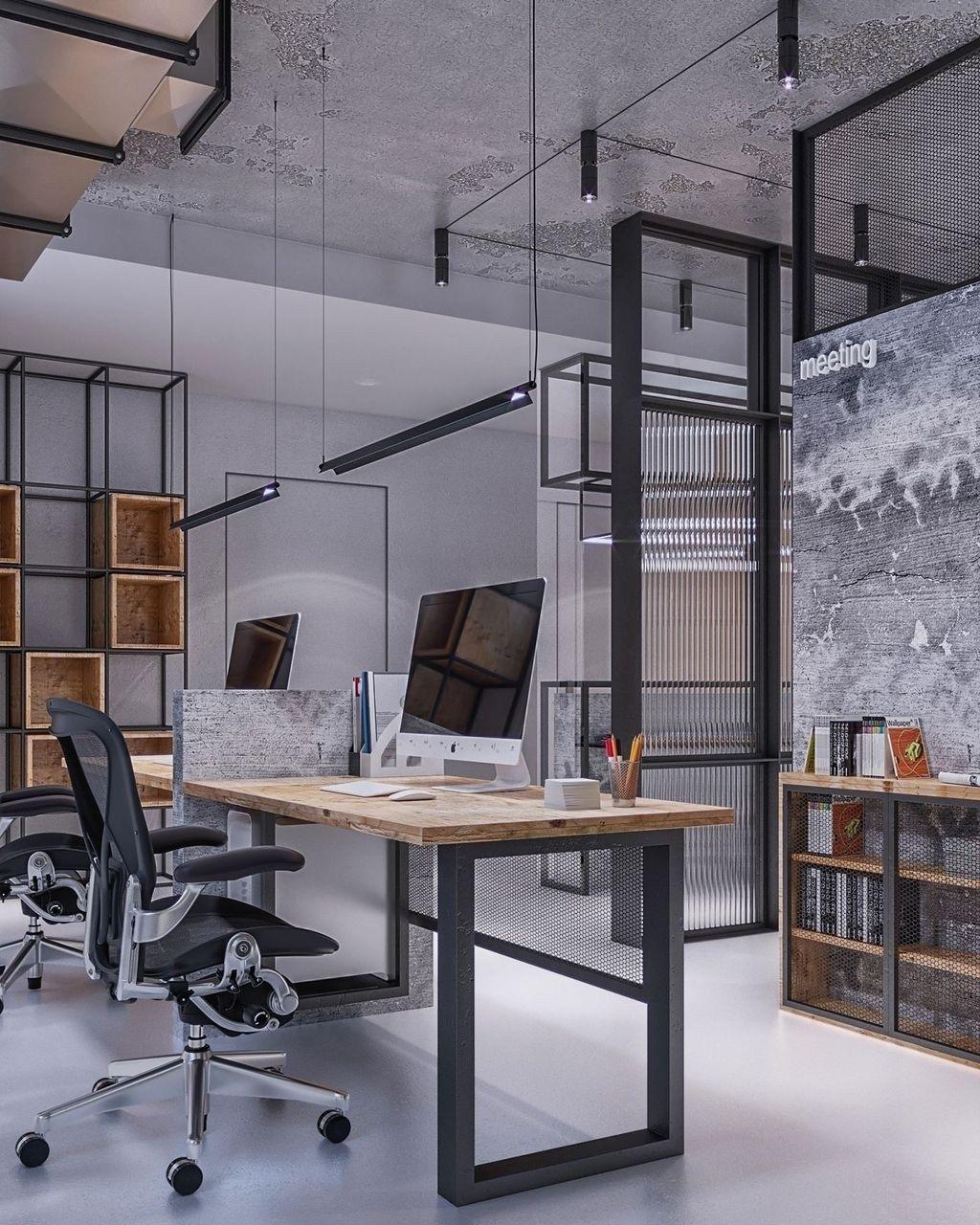 Magnificient Industrial Office Design Ideas 28