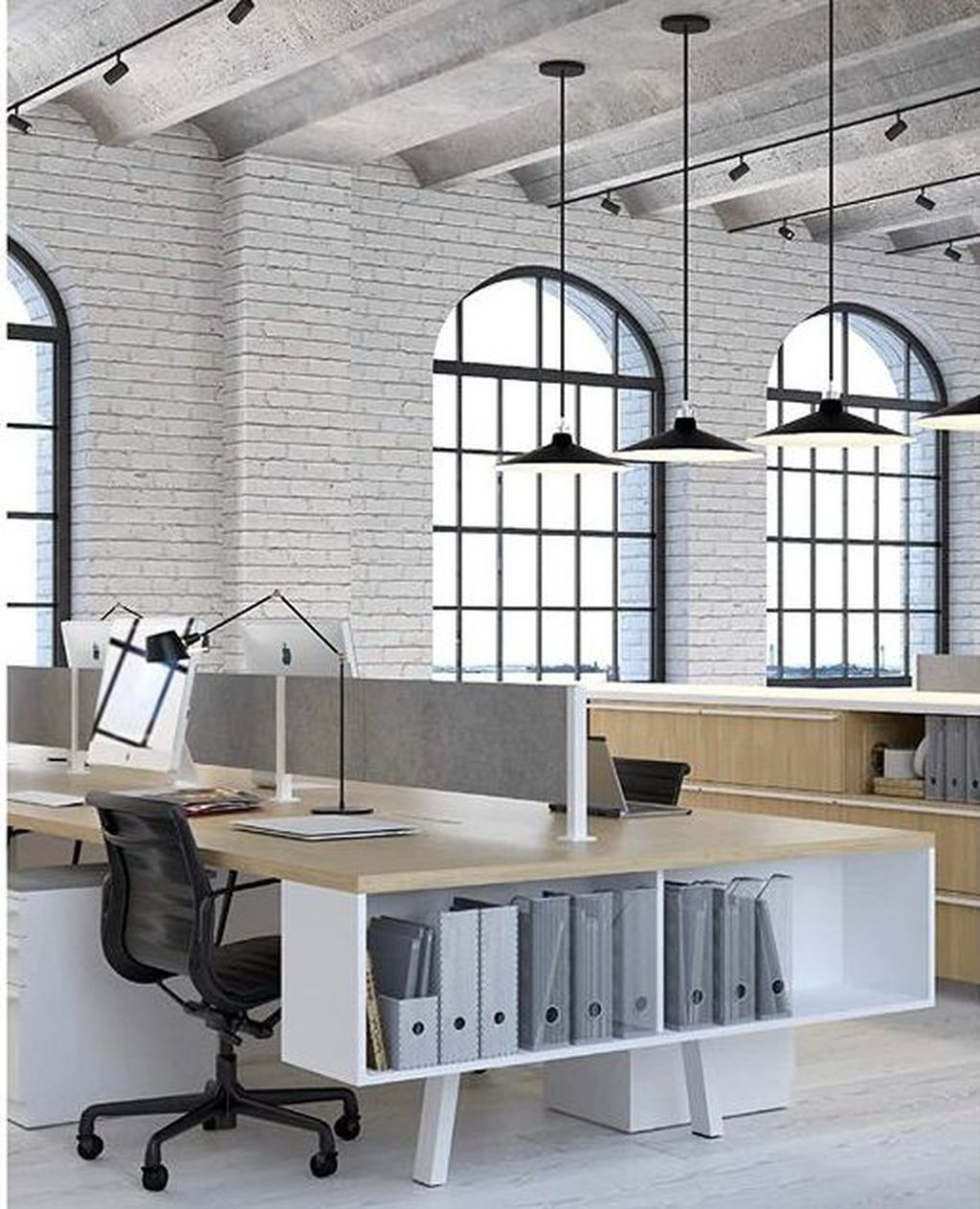Magnificient Industrial Office Design Ideas 29