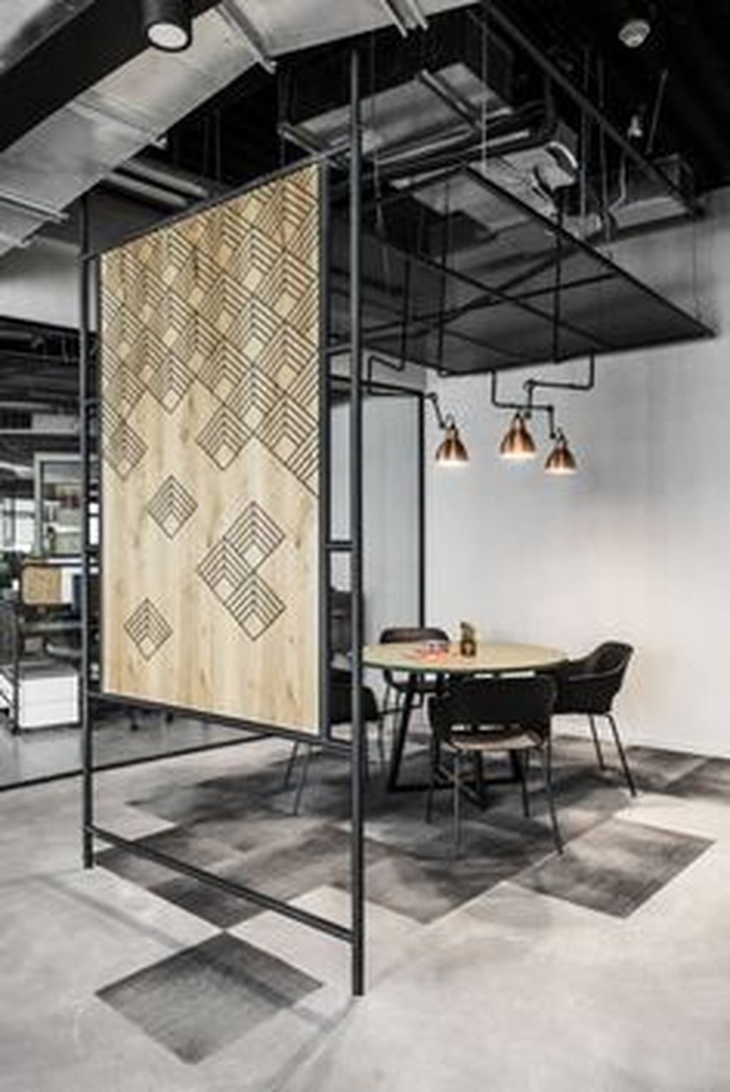 Magnificient Industrial Office Design Ideas 31