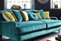 Popular Velvet Sofa Designs Ideas For Living Room 35
