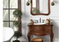 Wonderful Single Vanity Bathroom Design Ideas To Try 26